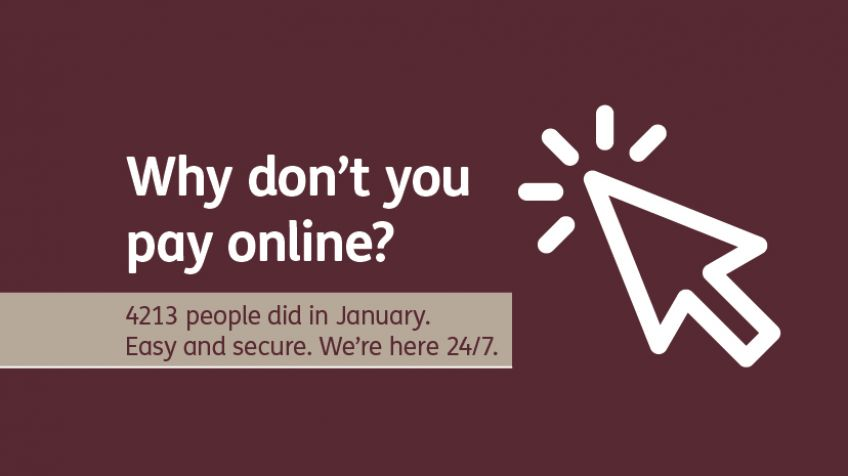 Why don't you - Jan 19 - paying online